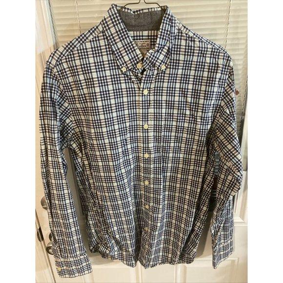 J. Crew mens small plaid longsleeve shirt